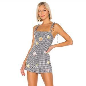 Lovers & Friends Dash Checkered Tie Romper